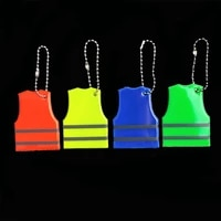 yellow vest keyrings soft pvc reflective keychain bag pendant accessories for traffic visiblity safety use
