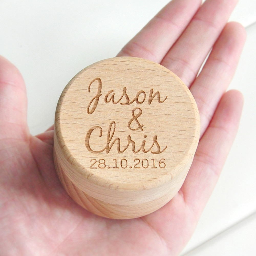 Personalized Rustic Wedding Wood Ring Box Holder Custom Your Names and Date Wedding Ring Bearer Box hexagon personalized rustic wedding wood ring box holder custom your names and date wedding ring bearer box black walnut