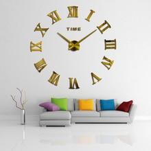 Novedad 20nuevo Reloj de pared para decoración del hogar, espejo grande de diseño moderno de muhbey, Relojes de pared de gran tamaño, pegatina de pared diy, reloj de regalo único