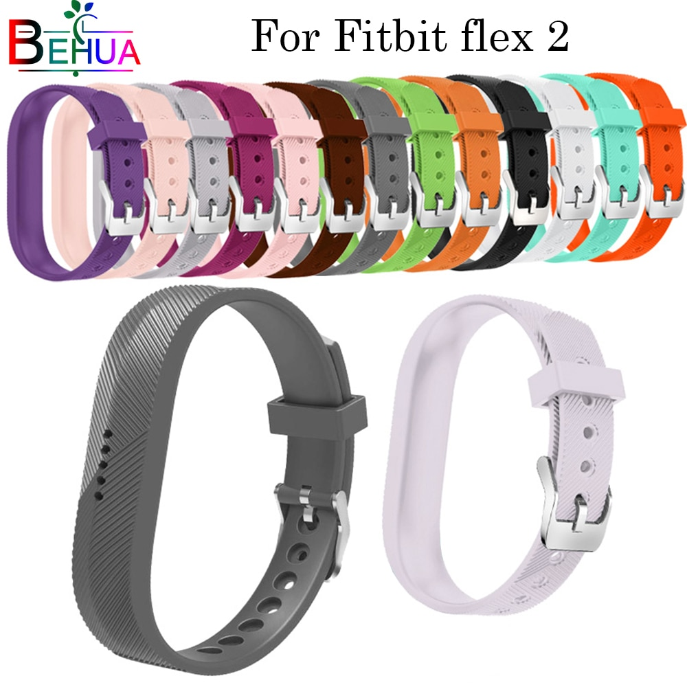 Smart Watch Strap For Fitbit flex 2 Replacement Soft Silicone With metal buckle Wrist Watch band Wrist strap For Fitbit Flex 2 men and women sport casual edition soft silicon rubber sports watch band wrist strap for fitbit blaze with metal buckle frame