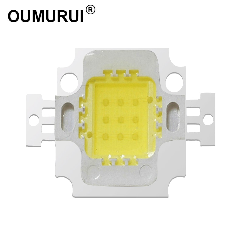 10 Uds 10W LED cob chip de alta lámpara LED de potencia reflector blanco 6000k/caliente 3000k 900mA 9-12V 800-1000LM 30mil Génesis envío gratis