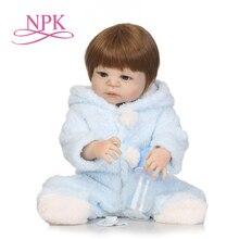 "NPK 22 ""شعبية فيكتوريا لصقها الشعر نابض بالحياة طفلة هدية عيد ميلاد كامل سيليكون Bonecas Bebes تولد من جديد الدمى"