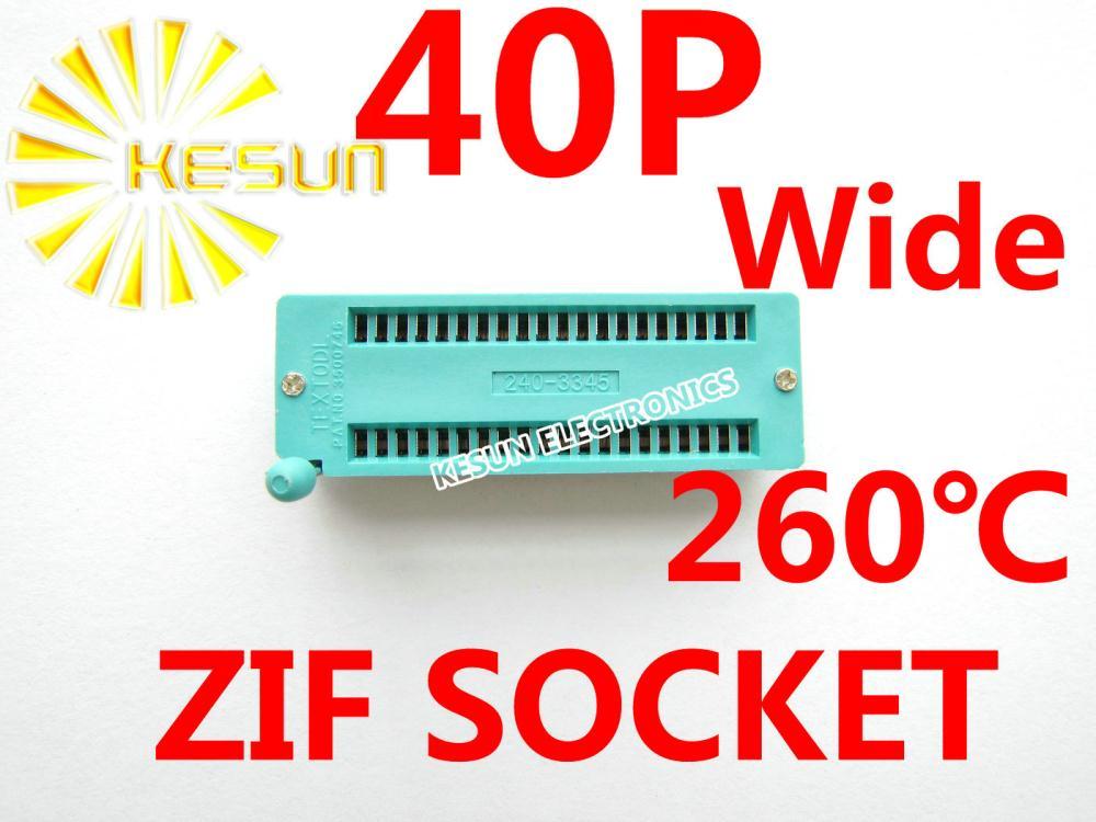 20 piezas 2,54mm 40 P amplio Universal ZIF Socket 40pin