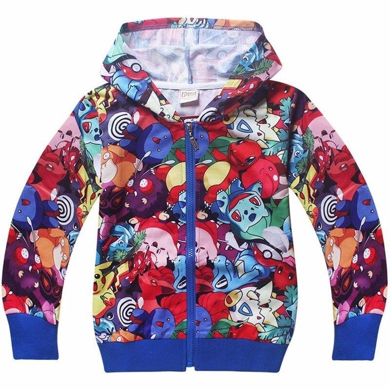 Anime pokemon hoodies pokemon ash ketchum pikachu cosplay traje crianças com capuz camisolas menino meninas primavera outono jaquetas