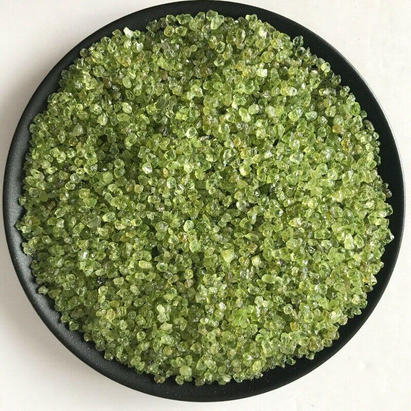 50 г 2 размера натуральный оливин зеленый камень Перидот гравия кристалл кварца минеральный E10 натуральные камни и минералы