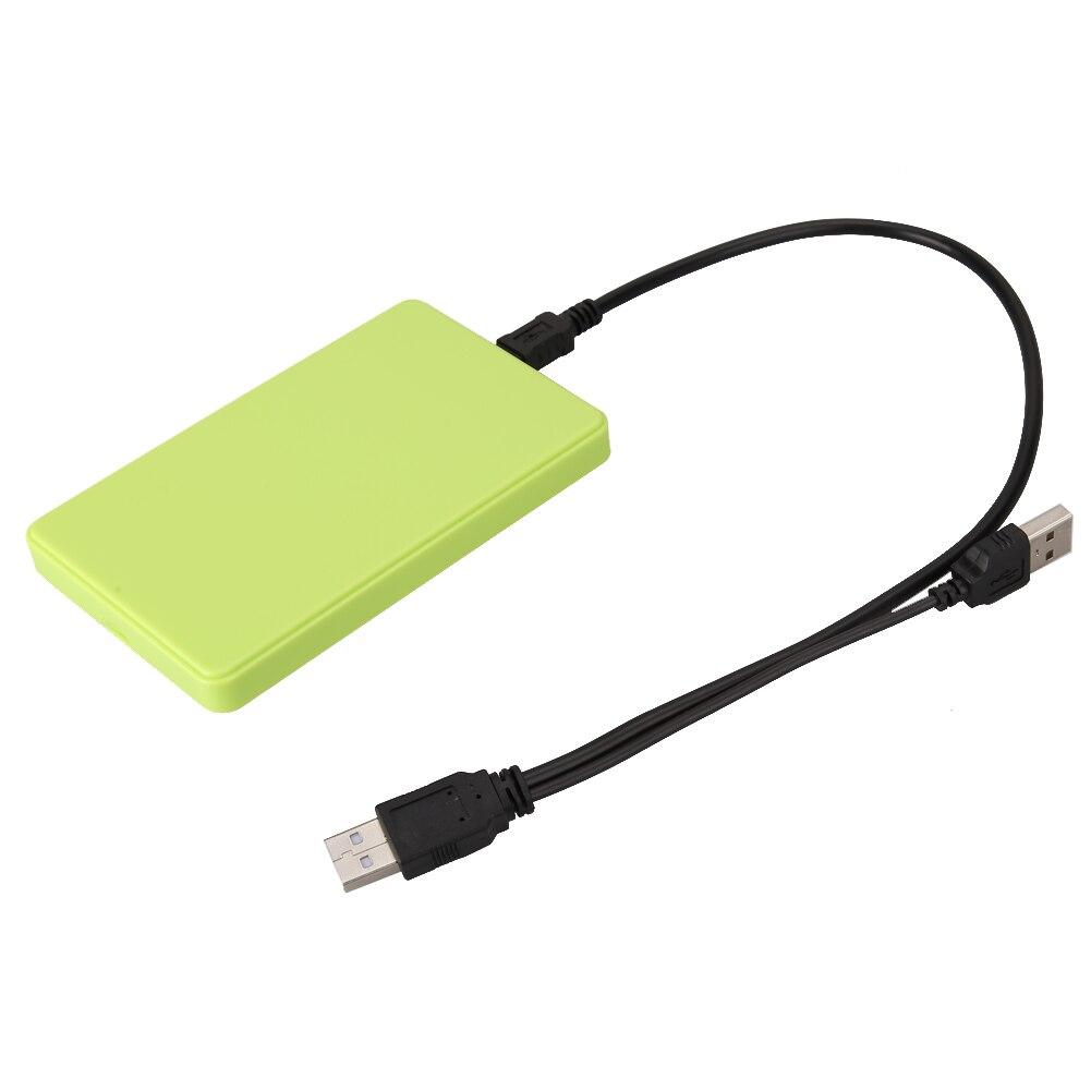 "USB 2,0 2,5 ""SATA HD жесткий диск HDD SSD Внешний корпус коробка Caddy до 2 ТБ для Mac OS ноутбук ПК зеленый"