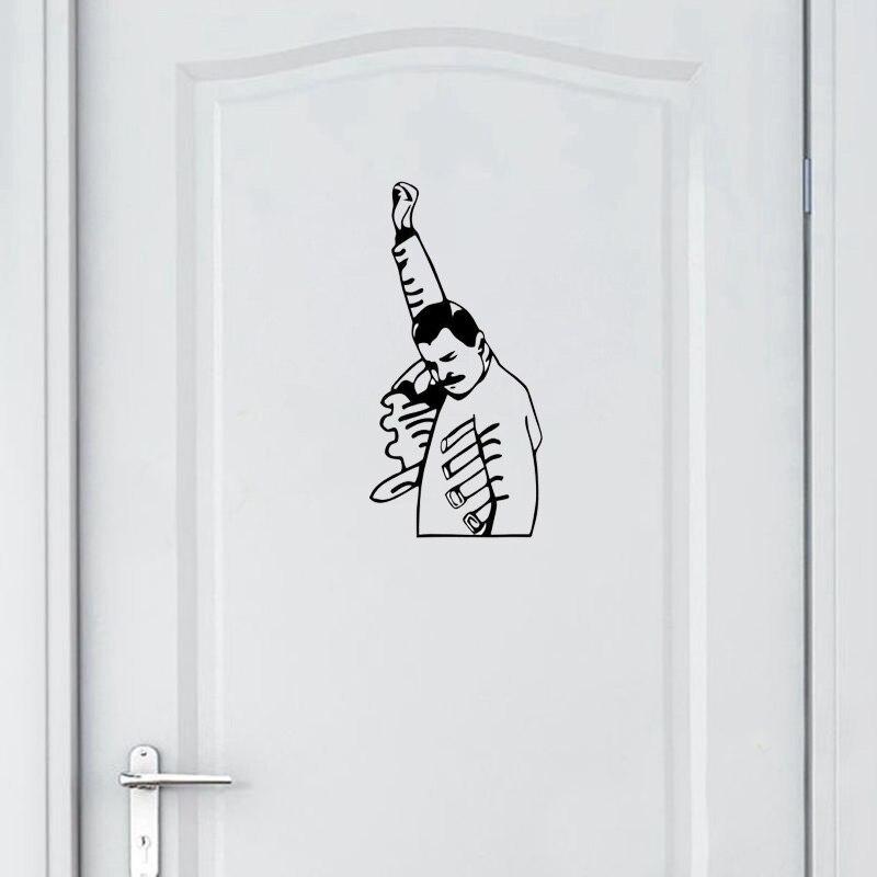 YOJA – autocollant Mural FREDDIE MERCURY, 12x25CM, pour porte de chambre à coucher, D1-0150