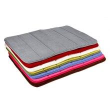 40*60cm Bath Mat Bathroom Carpet Water Absorption Rug Shaggy Memory Foam Bathroom Mat kitchen Floor tapis Accessories