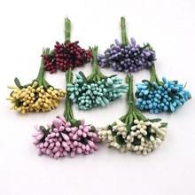 144pcs Mini Leek Stamen Handmade Artificial Flower For Wedding Party Home Decoration DIY Christmas Garland Scrapbook Accessories