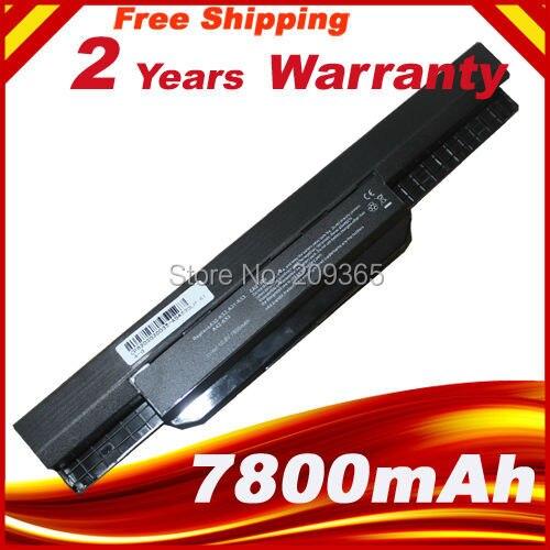 7800mAh batería para Asus X54H X53U X53S X53SV X84 X54 X43 A43 A53 K43 K53U K53T K53SV K53S K53E k53J K53 A53S A42-K53 A32-K53