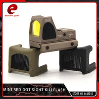 Element Airsoft Tactical Mini RMR Reflex Optics Red Dot Sight Scope Cover Anti-Reflection Alu Kill Flash Hunting RMR Killflash