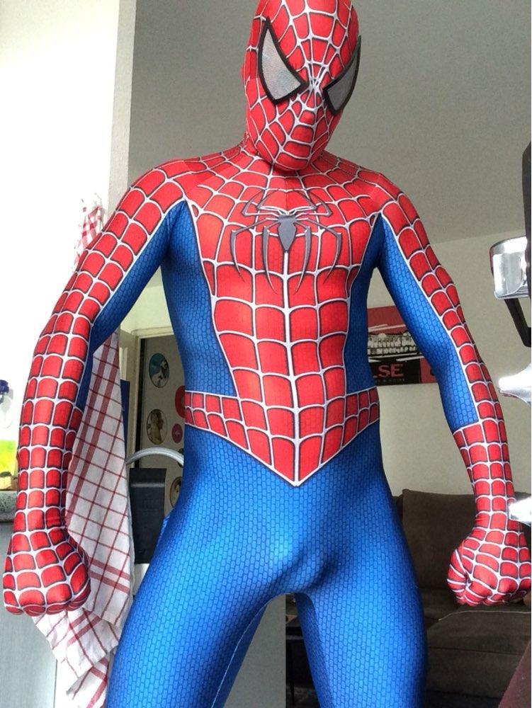 Disfraz de Spidey con lentes, Raimi, disfraz de Spiderman con estampado 3D de Raimi spider-man, traje cosplay de spandex zentai