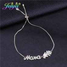 Juya Ali Moda cadeau Bracelets couronne fille garçon maman breloques Bracelets pour femme maman noël nouvel an cadeau bijoux fournitures