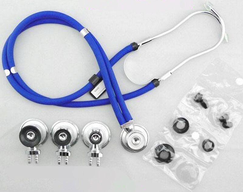 Ecómetro de acero inoxidable de lujo para el cuidado de la salud con envío gratis, auscultador de doble cabeza, estetoscopio médico