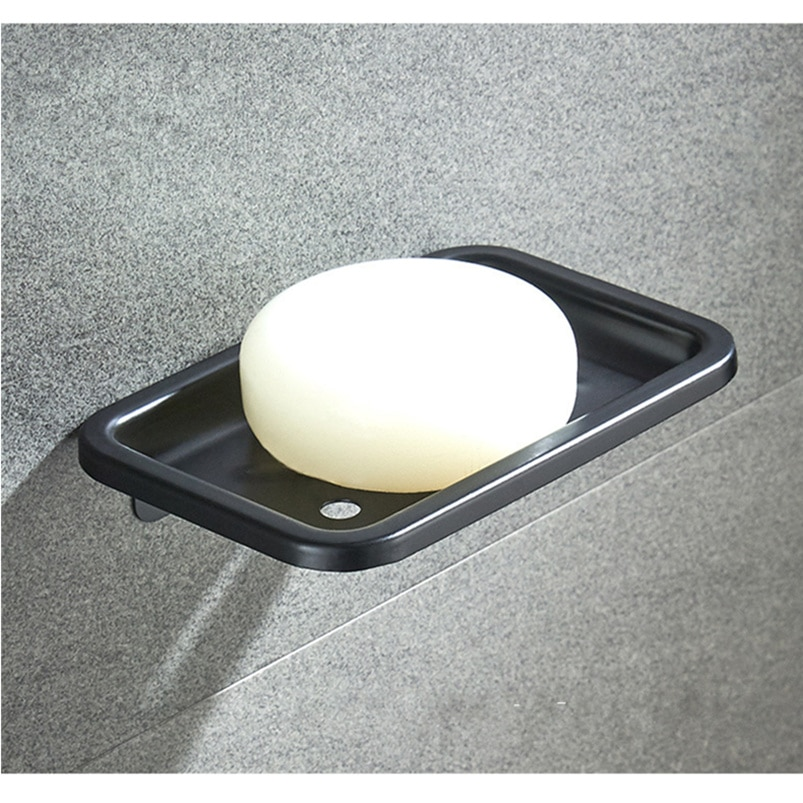 Temkunes Space Aluminum Soap Dish Wall mounted Soap Basket Box case Bathroom Accessories