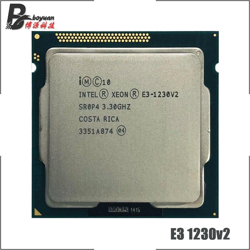 Intel Xeon E3-1230 v2 E3 1230v2 E3 1230 v2 3,3 GHz Quad-Core CPU procesador 8M 69W LGA 1155