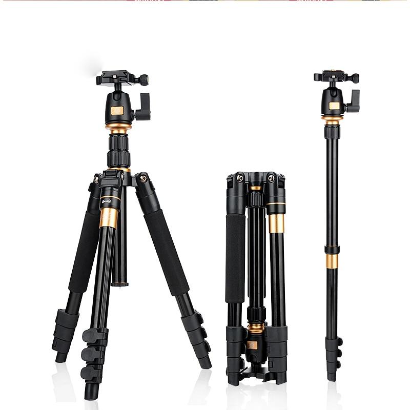QZSD Q555 SLR camera tripod portable and lightweight travel photography monopod Q-555 head Variable Alpenstock FREE SHIPPING