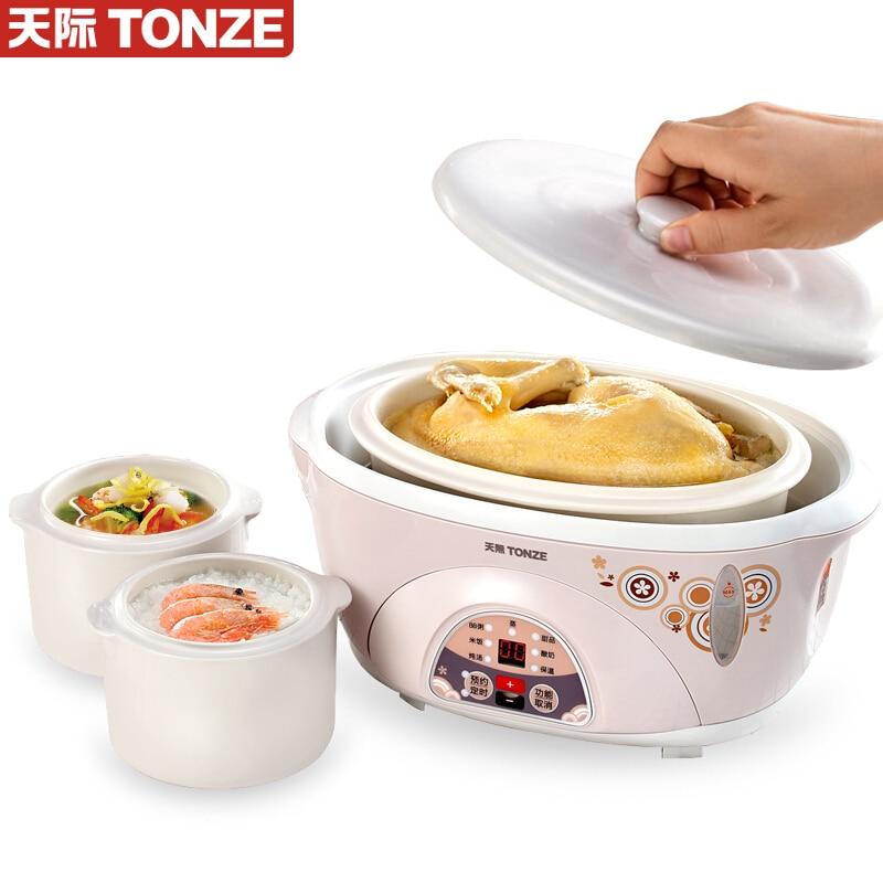 L guiso eléctrico de agua guiso cocinar sopa crema de avena 1 olla 3 bravura 1,6 L