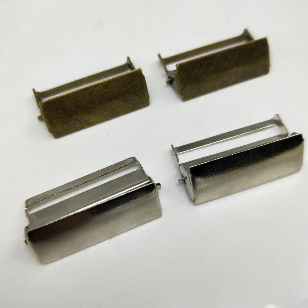 100 pcs/lot Bronze/Silber metall schnalle Hosenträger einstellung schnallen Handwerk Nähen materialien, Clips Bekleidungs Zubehör