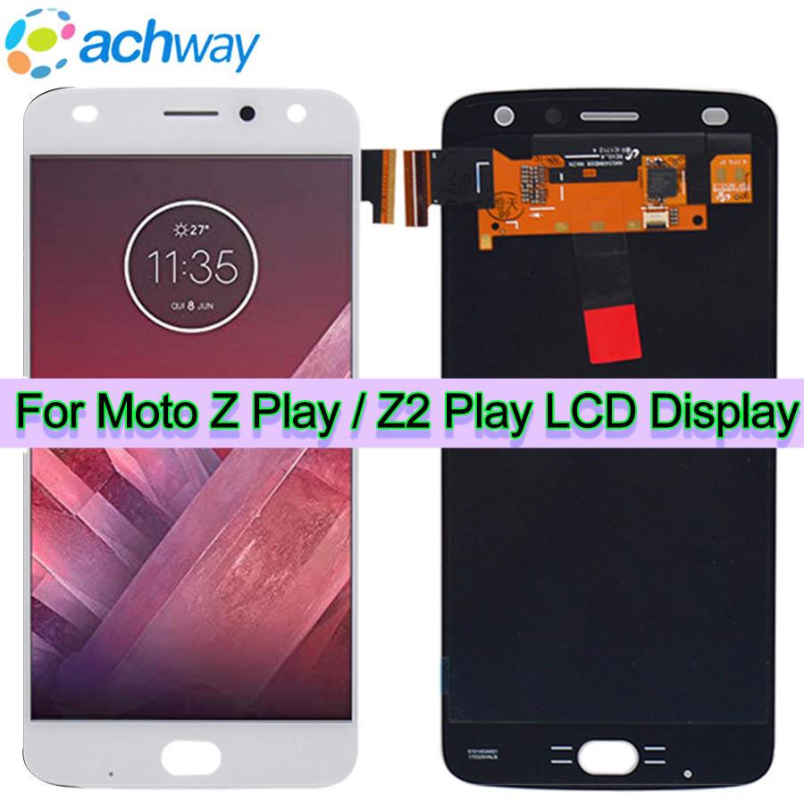 Novo z play display lcd para motorola moto z jogar para moto z2 play display adicionar digitador da tela de toque XT1710-01/07/08/