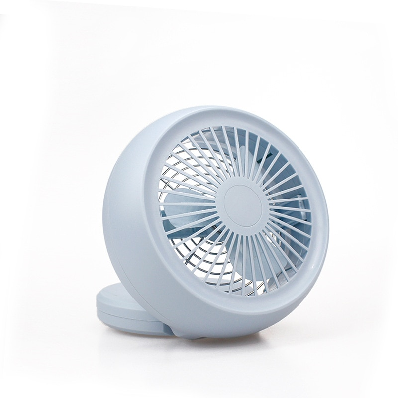 Mini ventilador USB plegable de sobremesa con ventilador de enfriamiento de verano de 4 colores