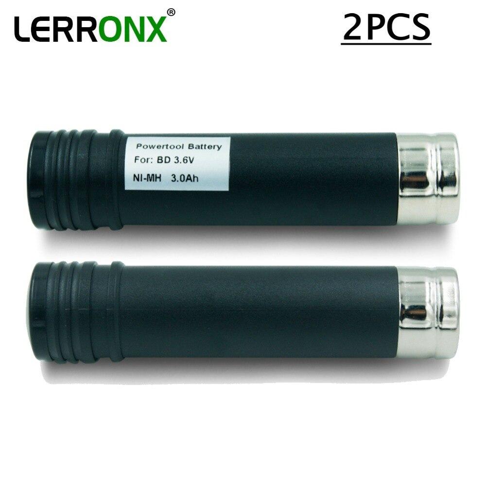 2PCS קיבולת גבוהה 3000mAh 3.6V Ni-MH סוללה נטענת עבור שחור דקר VP100 VP105 VP110 VP110C VP143 Versapak nimh bateria