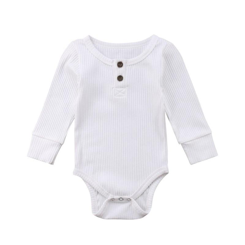 Купить с кэшбэком Newborn Infant Baby Boy Girls Long Sleeve Romper Jumpsuit Playsuit Clothes Outfits Autumn Winter Warm Romper Sweater Clothes