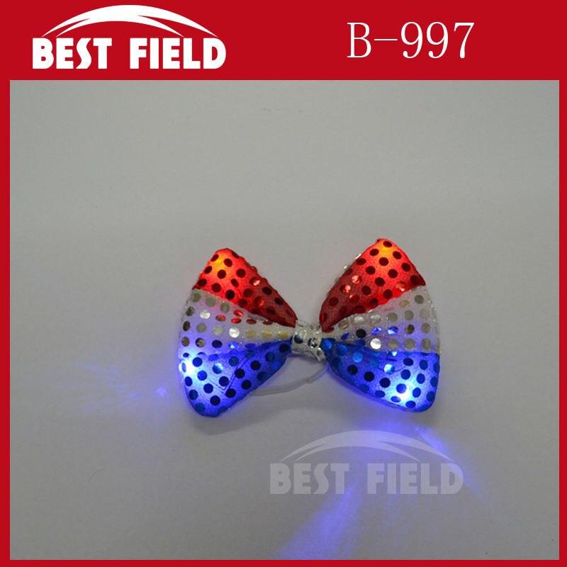 Envío Gratis 240 piezas led pajarita bandera estadounidense pajarita grande rojo blanco estrellas y lazo con rayas corbata