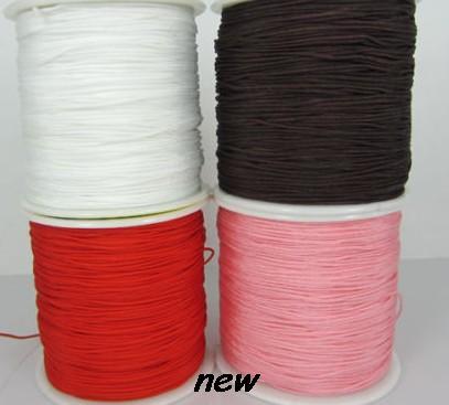 Puede elegir color negro mezclado 1,5mm nylon 160M/175 yardas/lote chino nudo banda de rodadura cuerda de Nylon cristal