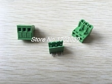 50 pcs 5.08mm Close Angle 3 pin Screw Terminal Block Connector Pluggable Type