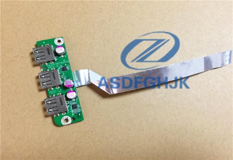 "Acer Aspire 5820 T 5553G 15.6 ""Hakiki USB soket Kurulu w/Kablo DAZR7BTB8D0 D 100% Test tamam"
