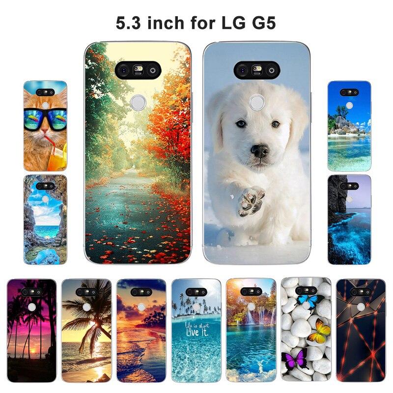 Funda para LG G5, funda con diseño de paisaje para LG G5, funda de teléfono suave de silicona para LG G5 H830 H840 H845 H850 LGG5