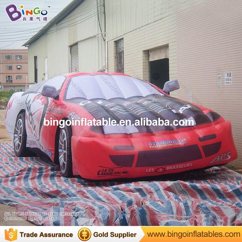 Vívido 8 metros modelo descapotable inflable para espectáculo réplica de coche de carrera hinchable personalizada para decoración coche de juguete de publicidad