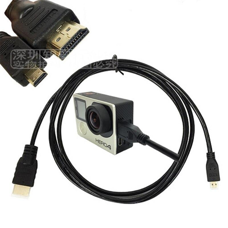Cable micro HDMI línea de datos para Xiaomi yi 4k GoPro héroe 8 7 6 5 4 3 + SJCAM SJ4000 Xiaomi Yi 4k EKEN H9 accesorios de Cámara de Acción