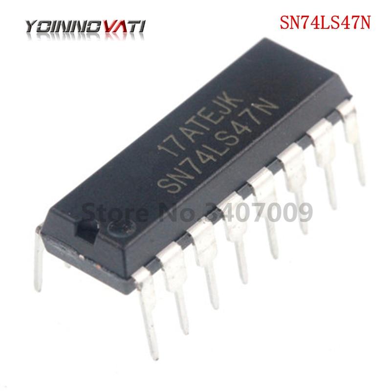10 Uds SN74LS47N DIP16 SN74LS47 74LS47N 74LS47 de BCD a 7 segmentos nuevo original