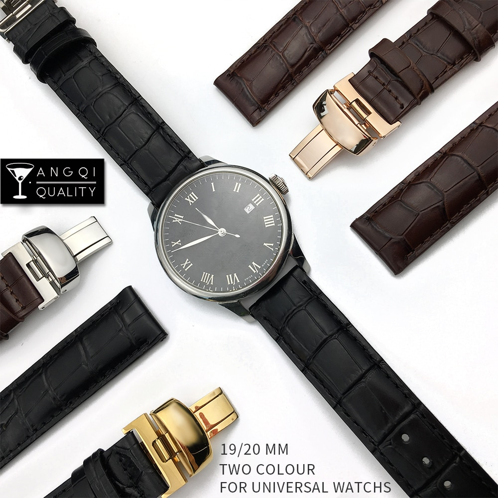 leather watchband black brown watch accessories for tissot 1853 watchbands t41 t17 t065 t063 leather watchband for tissot1920mm 19mm 20mm 21mm Calf Genuine Leather For Tissot T41 T17 T014 Watchband Wrist Belt Watch Strap Bracelets PRC200 T099 T063 T085