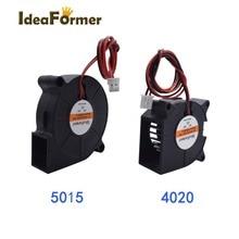 4020/5015 ventilateur ventilateur de refroidissement 12V/24V 50x50x1 5mm/40x40x20mm 2Pin XH2.54 câble Terminal pour imprimante 3D pièces chaleur lit ventilateur de refroidissement.