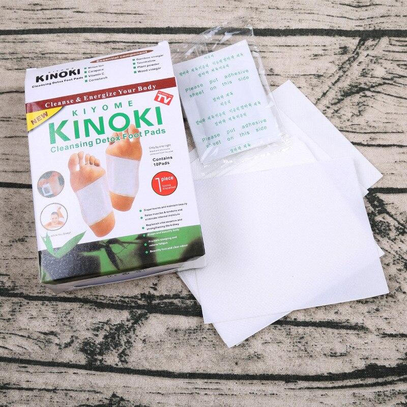 20 pcs = (10 pcs Patches + 10 pcs Adesivos) kinoki Cleansing Detox Foot Patches Pads Pés de Toxinas Do Corpo Emagrecimento HerbalAdhesive Quente