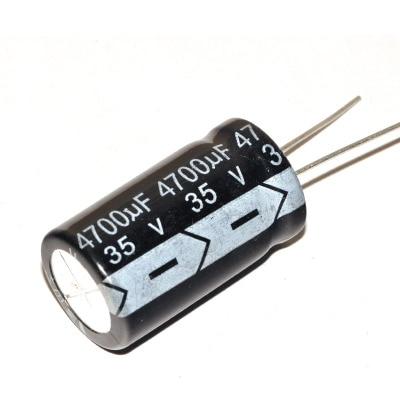 10 unids/lote nuevo alta calidad condensador electrolítico de aluminio 35V 4700UF 18*30MM 4700UF 35V IC