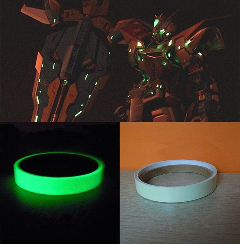 Modelo de gundam-adesivo fluorescente específico alto brilho colar luminosa decalque 1*100cm