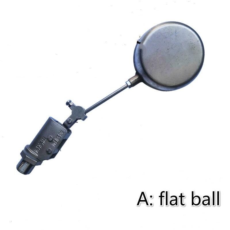 Válvula de bola flotante de acero inoxidable DN15 1/2 válvula del flotador del tanque de agua válvula de flotador de bola plana bola redonda