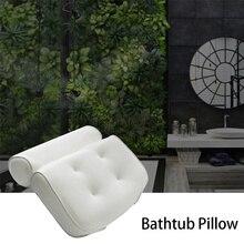 Oreiller en maille 3D pour salle de bain Spa   Baignoire antidérapante, Jacuzzi rembourré, appui-tête avec cou à ventouses, coussin de bain pour salle de bain