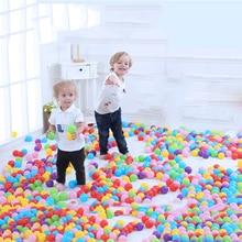300pcs Dry Pool Balls Colorful Ball Soft Plastic Ocean Ball Kid Swim Pit Toy Water Pool Ocean Wave Ball