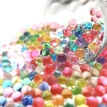 3000 pièce/sac en forme de perle   Perles deau de sol en cristal, Gel Bio, boue, boules de gelée magique, Orbiz, pour décoration de mariage à la maison
