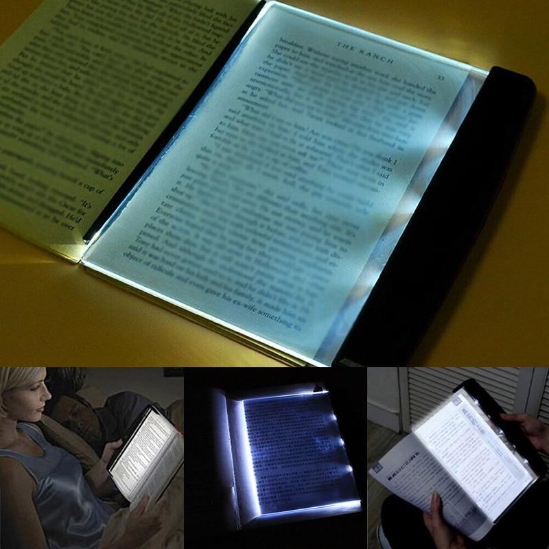 Светодиодный светильник для чтения книг ночные светильники с плоской пластиной