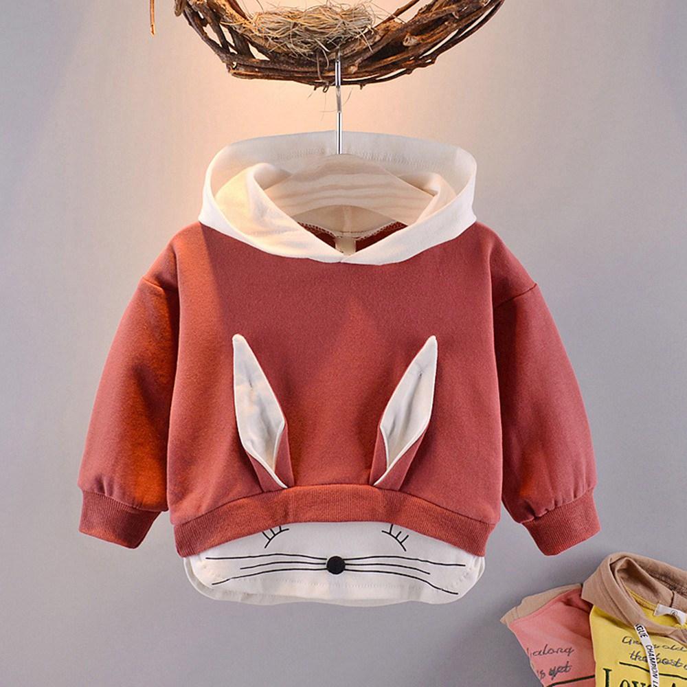 2019 spring Autumn Children Baby Babi Kids boys Long Sleeve cute sweet Cartoon rabbit Hooded Sweatshirts Outwear Coats C1817