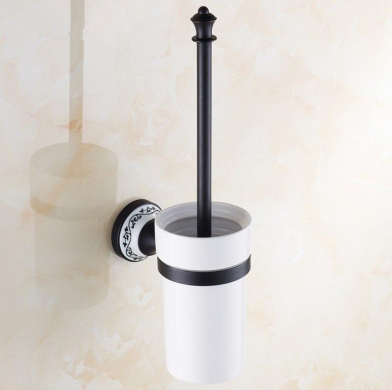 خمر الأسود إنهاء اكسسوارات الحمام ، السيراميك تصميم مرحاض فرشاة حامل و مرحاض فرشاة مجموعة/منتجات النحاس المواد المنزلية