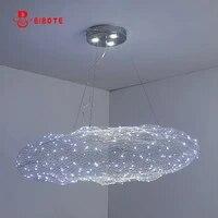 modern led cloud pendant lights for living room bedroom kitchen indoor hanging lighting with led twinkle light fixture lights