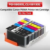 NEW Compatible Ink Cartridges For PGI580 CLI581 For Canon Pixma TS705/TR7550/TR8550/TS6150/TS6250/TS8150/TS8250/TS9150/TS9550