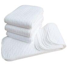 Couche en tissu réutilisable pour bébé 1 pièce   3 couches, 6 couches, 9 couches insérées 100% coton, produits soins lavables pour bébé